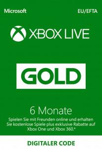XBOX Live Gold 6 Monate